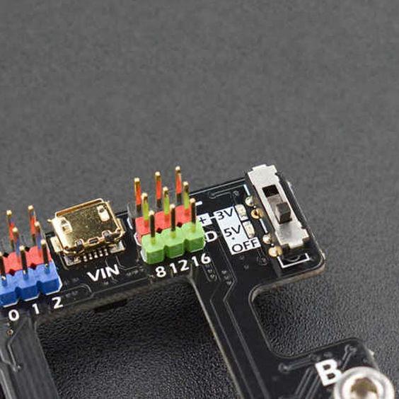 Micro:Mate Mini Eklenti Kartı (Micro:Bit İçin - Gravity Modül Uyumlu)