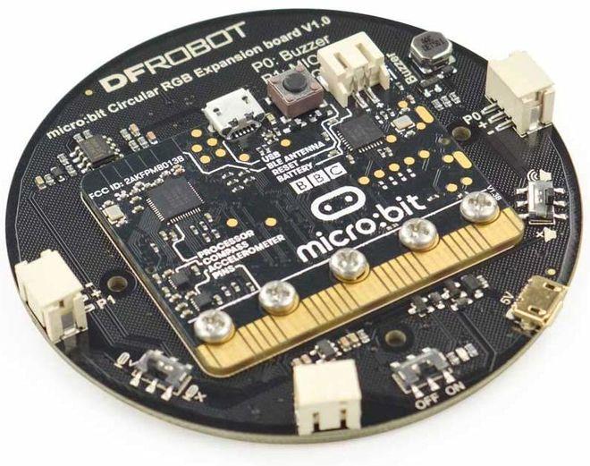 Micro:bit Dairesel RGB LED Eklenti Kartı