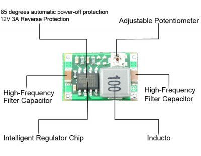 Mini Adjustable 2A Step-Down Voltage Regulator