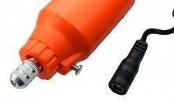 Mini Drill 12V DC PCB Matkabı / Uzatma Kablolu - Turuncu - Thumbnail