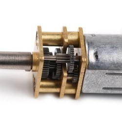 Metal Redüktörlü Mikro Motor 100 RPM - N20 DC 12 V - 80600 - Thumbnail
