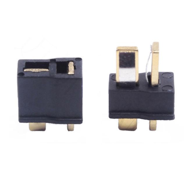 Mini T Plug Batarya Konnectörü Kırmızı (Erkek-Dişi Set)