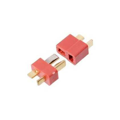 Mini T Plug Battery Connector Red (Male-Female Set)
