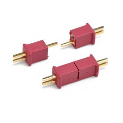 Mini T Plug Battery Connector (WLtoys W977 Mini Compatible) (Male-Female Set) - Thumbnail