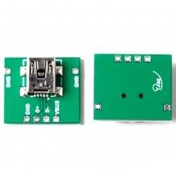 Mini USB Type-B (Female) to DIP Converter - Thumbnail