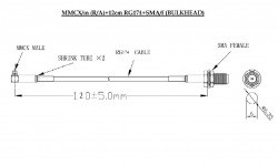 MMCX-SMA RF Interface Cable - Thumbnail