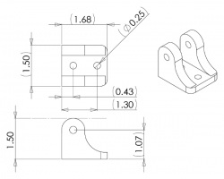 Mounting Bracket for Concentric LD Linear Actuators - PL2314 - Thumbnail