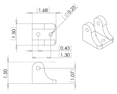 Mounting Bracket for Concentric LD Linear Actuators - PL2314
