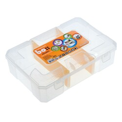 Asrın Plastik - Multipurpose Compartment Material Box - Transparent ASR-5017
