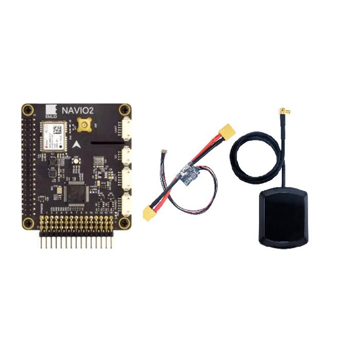 Navio 2 Uçuş Kontrol Kartı Seti (Navio 2 + Kablo Seti + GPS Anteni + Emlid Navio Güç Modülü)