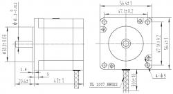 Bipolar/Unipolar NEMA 23 200 Adım 57x41 mm 5.7 V Step Motor - PL-1476 - Thumbnail