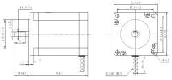 Bipolar/Unipolar NEMA 23 200 Adım 57x76 mm 8.6 V Step Motor - PL-1477 - Thumbnail