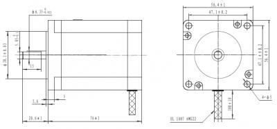 NEMA 23 200 Step 57x76mm 8.6V Step Motor