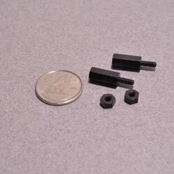 Odseven 16mm M2.5 Pirinç Aralayıcı (Standoffs-Spacer-Yükseltici) - Siyah - Thumbnail