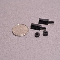 Odseven Brass M2.5 Standoffs for Pi HATs - Black Plated - Pack of 2 - Thumbnail