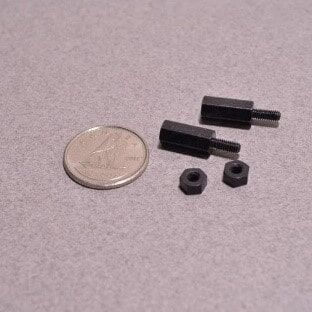 Odseven Brass M2.5 Standoffs for Pi HATs - Black Plated - Pack of 2