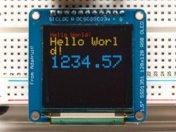 OLED Renkli 1.5 Inch Ekran Modülü SD Kartlı - 16-bit Color 1.5 Inch w/microSD holder - Thumbnail