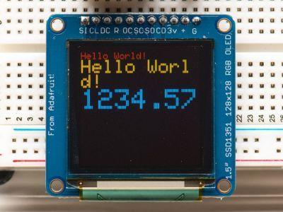 OLED Renkli 1.5 Inch Ekran Modülü SD Kartlı - 16-bit Color 1.5 Inch w/microSD holder
