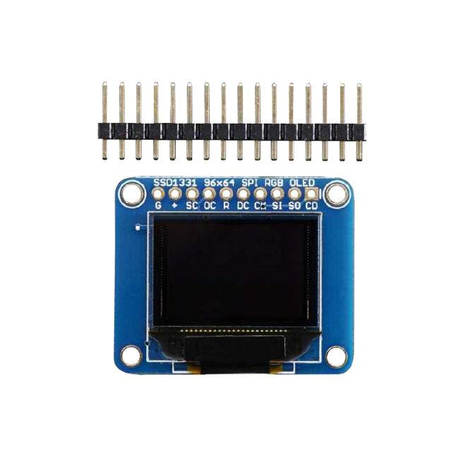 OLED Renkli 0.96 Inch Ekran Modülü SD Kartlı - OLED Breakout Board - 16-bit Color 0.96 Inch w/microSD holder