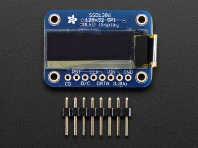 OLED Siyah-Beyaz 1 Inch Ekran Modülü - Monochrome 128x32 SPI OLED graphic display