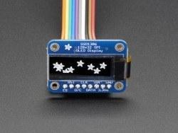 OLED Siyah-Beyaz 1 Inch Ekran Modülü - Monochrome 128x32 SPI OLED graphic display - Thumbnail