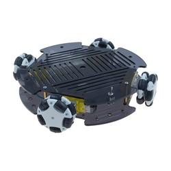 Robotistan - Cruise Omni Tekerlekli Robot Platformu (Elektroniksiz)