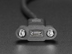 Panel Montajlı Micro USB Uzatma Kablosu - Thumbnail