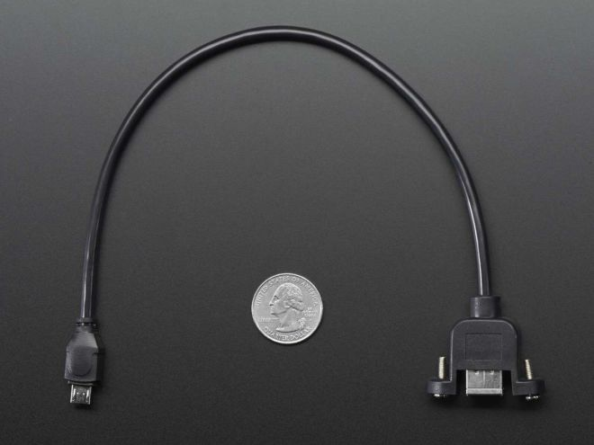 Panel Mounted Usb Cable - Female-B to Micro-B