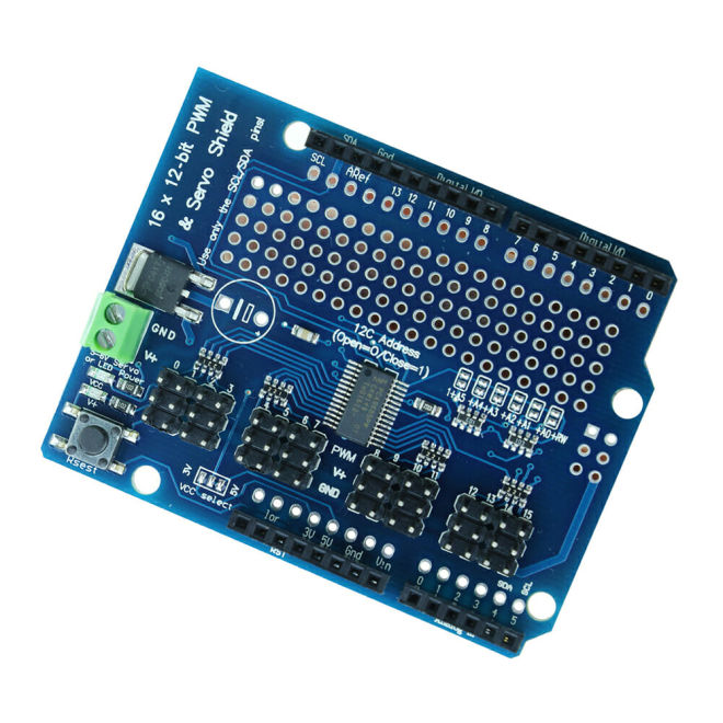 PCA9685 16 Channel I2C PWM/Servo Driver Shield
