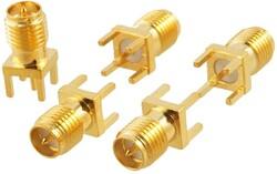 PCB Montaj için Dişi Düz SMA - Thumbnail