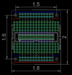 PermaProto Raspberry Pi Uyumlu Delikli Pertinaks (Küçük Boy) - Thumbnail