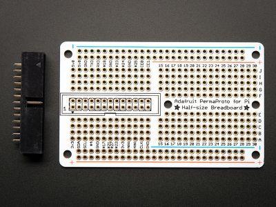 PermaProto Raspberry Pi Uyumlu Delikli Pertinaks (Yarım Boy)