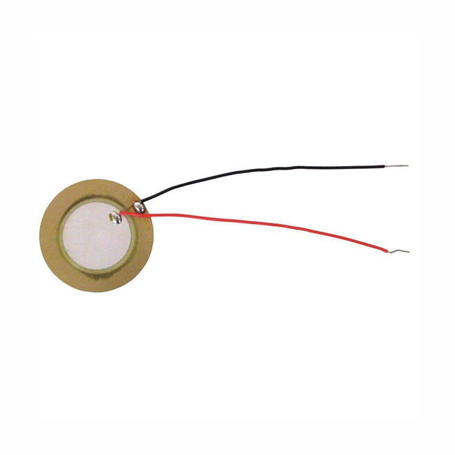 Piezo Disk - With Cable - 35mm Diameter