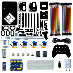 4in1 Arduino Pleksi Robot Kol - Elektronikli (Joystick Kol ile Birlikte) - Thumbnail