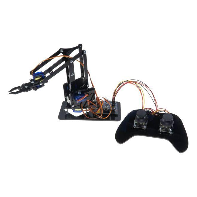 4in1 Arduino Pleksi Robot Kol - Elektronikli (Joystick Kol ile Birlikte)