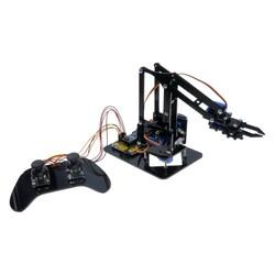 Robotistan - Plexi Robot Arm - with Electronic Components