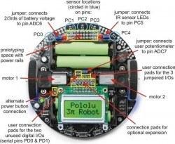 Pololu 3pi Robot - Çizgi İzleyen Robot - PL-975 - Thumbnail