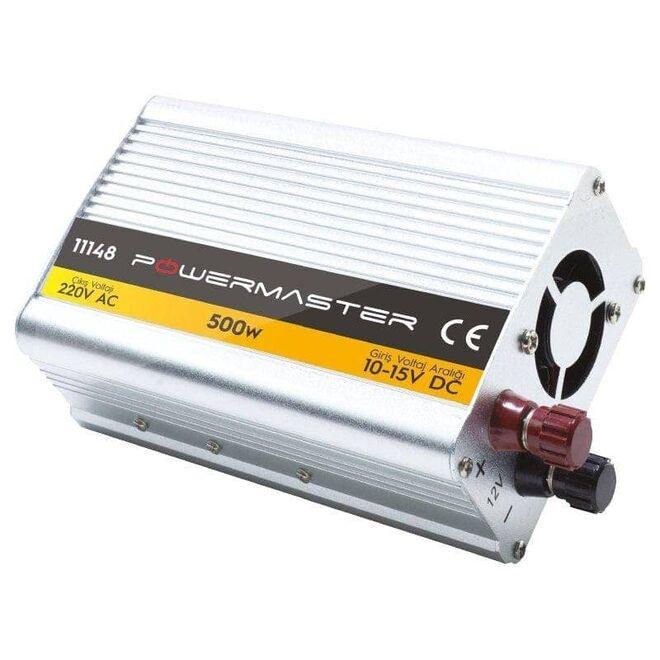 Power Master 12 V 500 W Modıfıed Sınus Invertör (10-15v Arası-220v Ac)