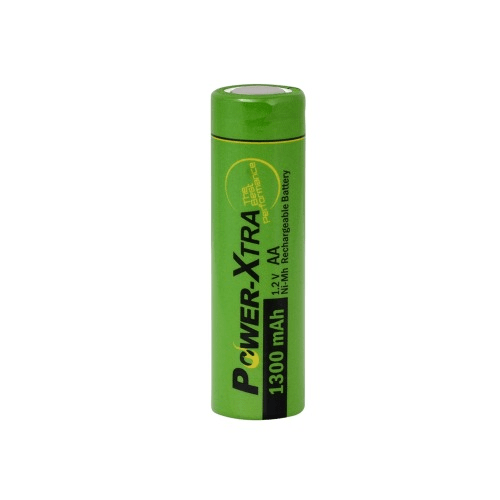 Power-Xtra AA 1300 mAh Ni-Mh Rechargable Battery (Flat)