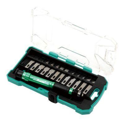 Proskit 14pcs Aluminum handle knife kit PD-398