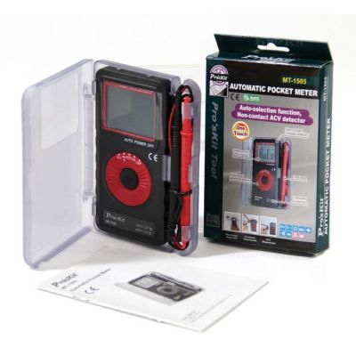 Proskit MT-1505 3 3/4 Automatic Pocket Multimeter (Contactless Voltage Detector)
