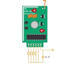 PT2262 4km Range 4 Channel RF Transmitter Module - Thumbnail