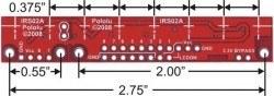 QTR-8A 8′li Kızılötesi Sensör - Analog - PL-960 - Thumbnail