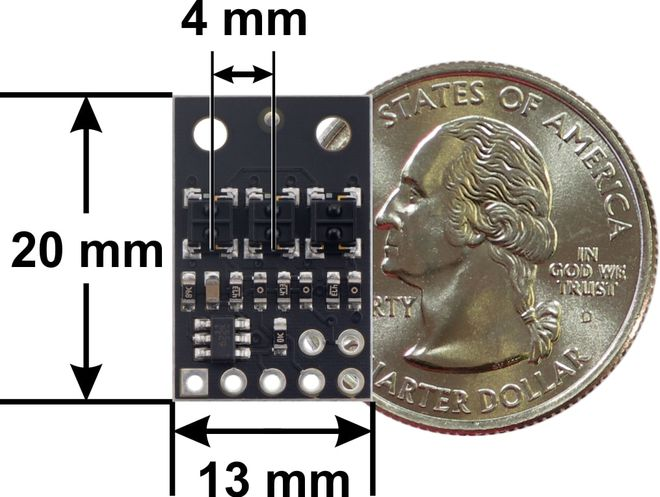 QTRX-HD-03A 3'lü Çizgi Algılama Sensörü (Sık Sensör Dizilimli)