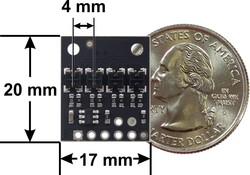 QTRX-HD-04A 4'lü Çizgi Algılama Sensörü (Sık Sensör Dizilimli) - Thumbnail