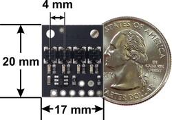 QTRX-HD-04RC 4'lü Çizgi Algılama Sensörü (Sık Sensör Dizilimli) - Thumbnail