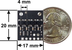 QTRX-HD-04RC Reflectance Sensor Array - Thumbnail