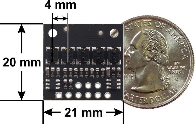 QTRX-HD-05A 5'li Çizgi Algılama Sensörü (Sık Sensör Dizilimli)
