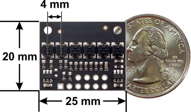 QTRX-HD-06A 6'lı Çizgi Algılama Sensörü (Sık Sensör Dizilimli)