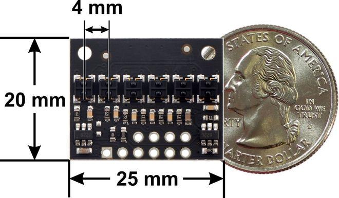 QTRX-HD-06RC 6'lı Çizgi Algılama Sensörü (Sık Sensör Dizilimli)